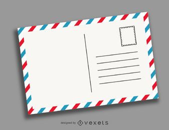 Ilustración de postal retro