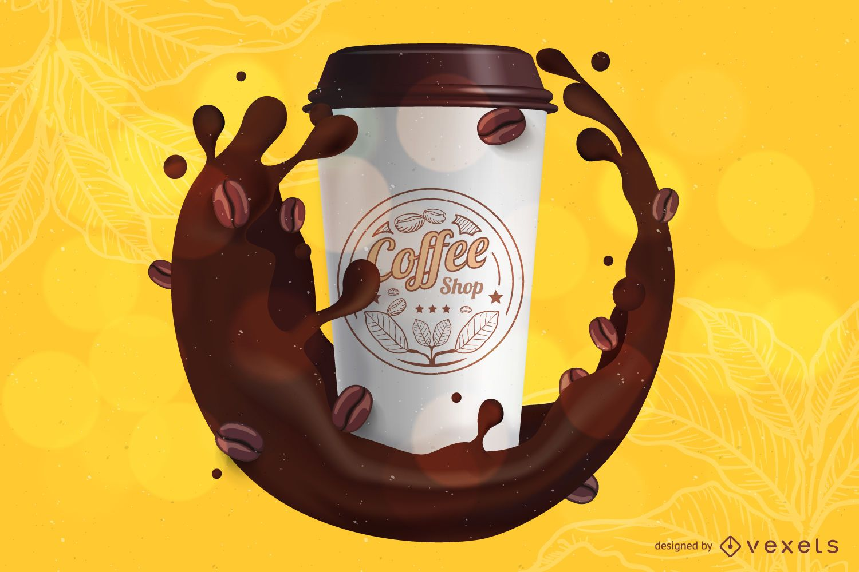 Coffee branding mockup template