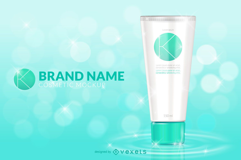 Cosmetic makeup mockup template