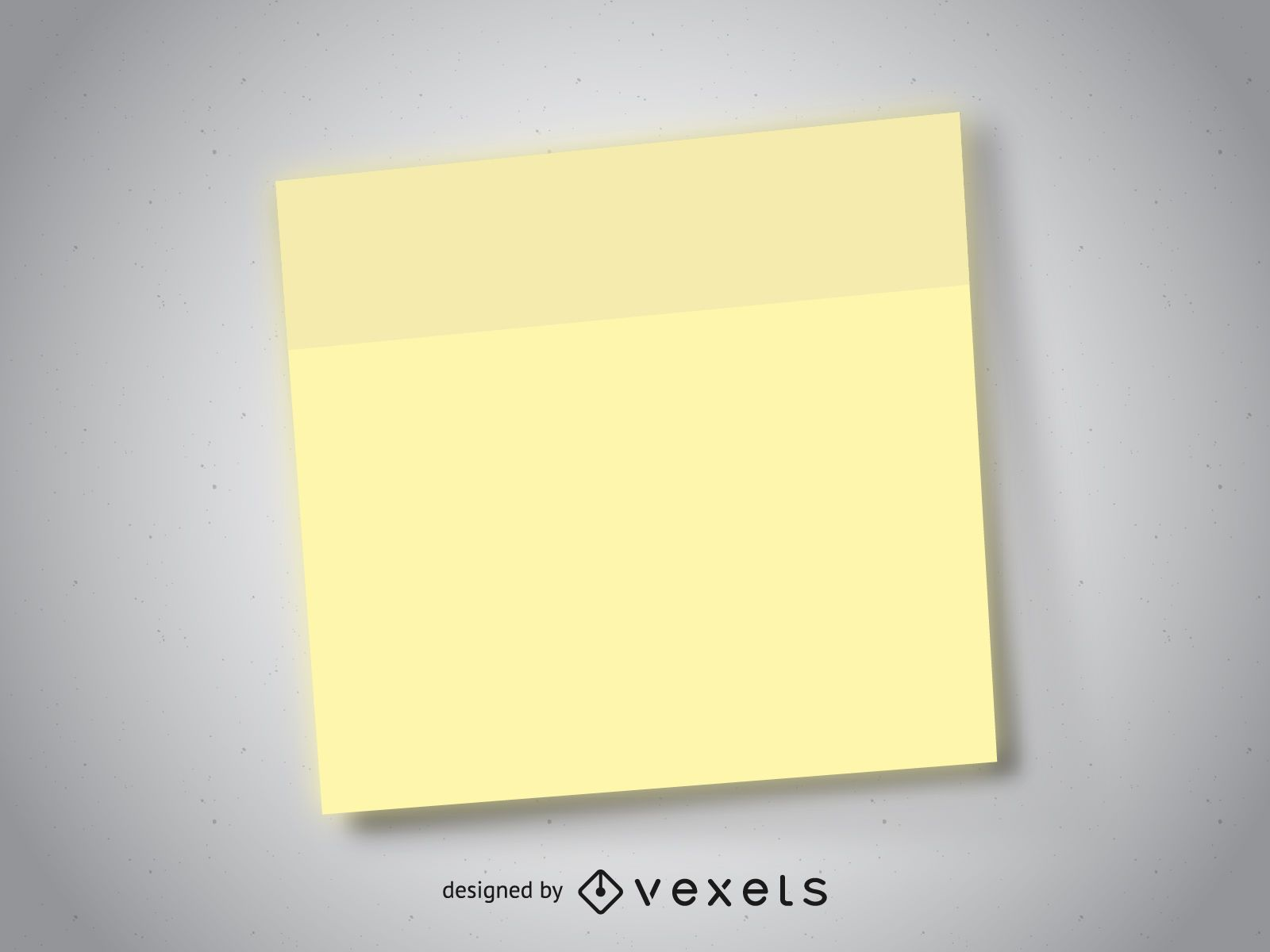 Realistic post it note