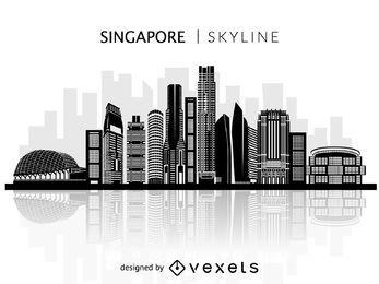 Silueta del horizonte de Singapur