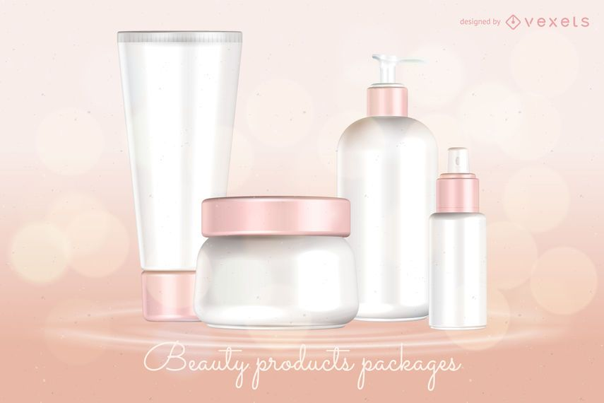 Beauty products packages template