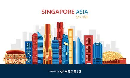 Design de horizonte colorido de Singapura