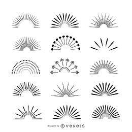 Coleção de ilustração Sunburst