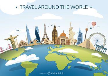 World Skyline Poster-Hersteller