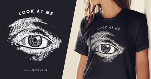Diseño de camiseta de ilustración de ojo