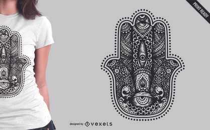Hamsa illustration t-shit design