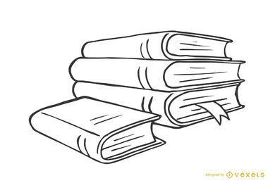 Pilha de livros illustraton