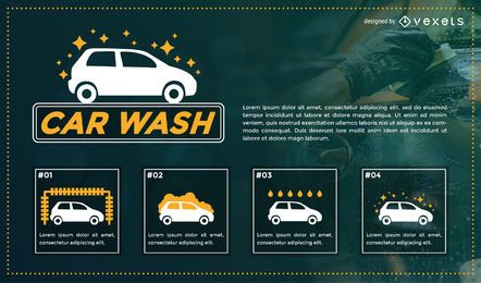 Autowäsche-Broschürendesign