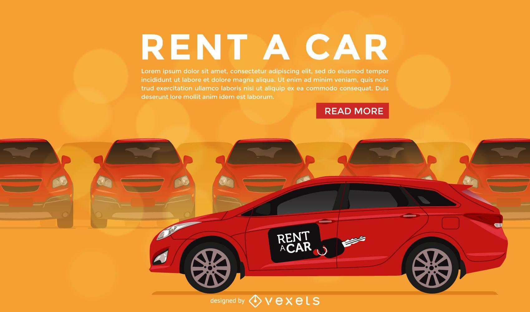 Ilustración de alquilar un coche