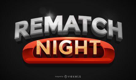 Emblema de esporte de TV de revanche noite