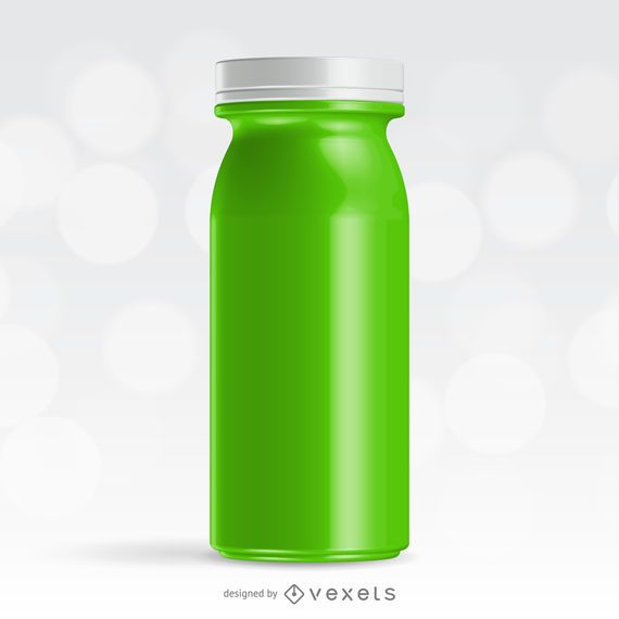 Realistisches grünes Saftflaschenmodell