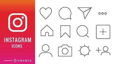 Coleção de ícones de instagram
