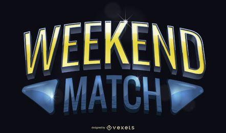 3D sports match poster