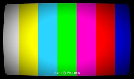 Sinal de barras de cor de TV