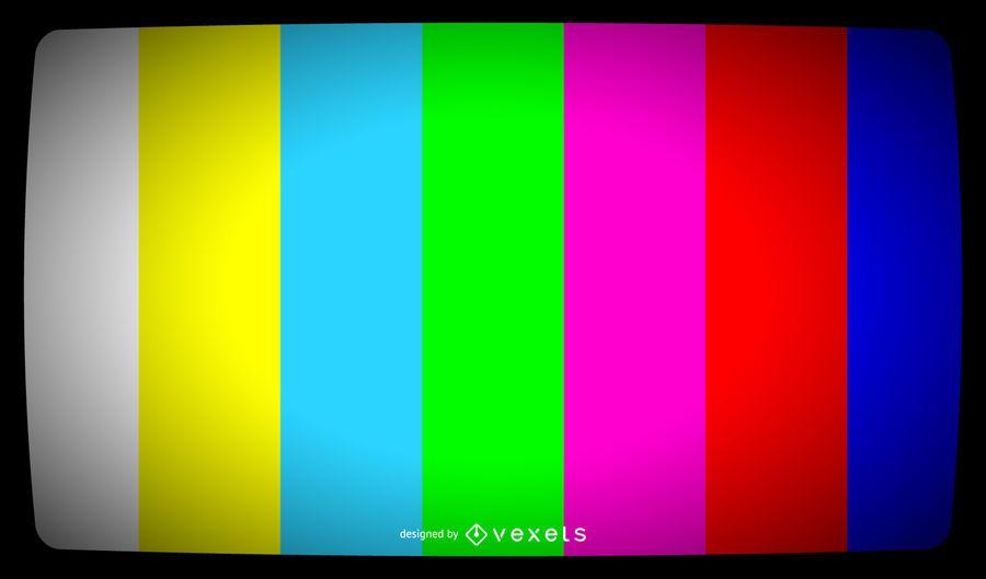 Sinal de barras de cores da TV