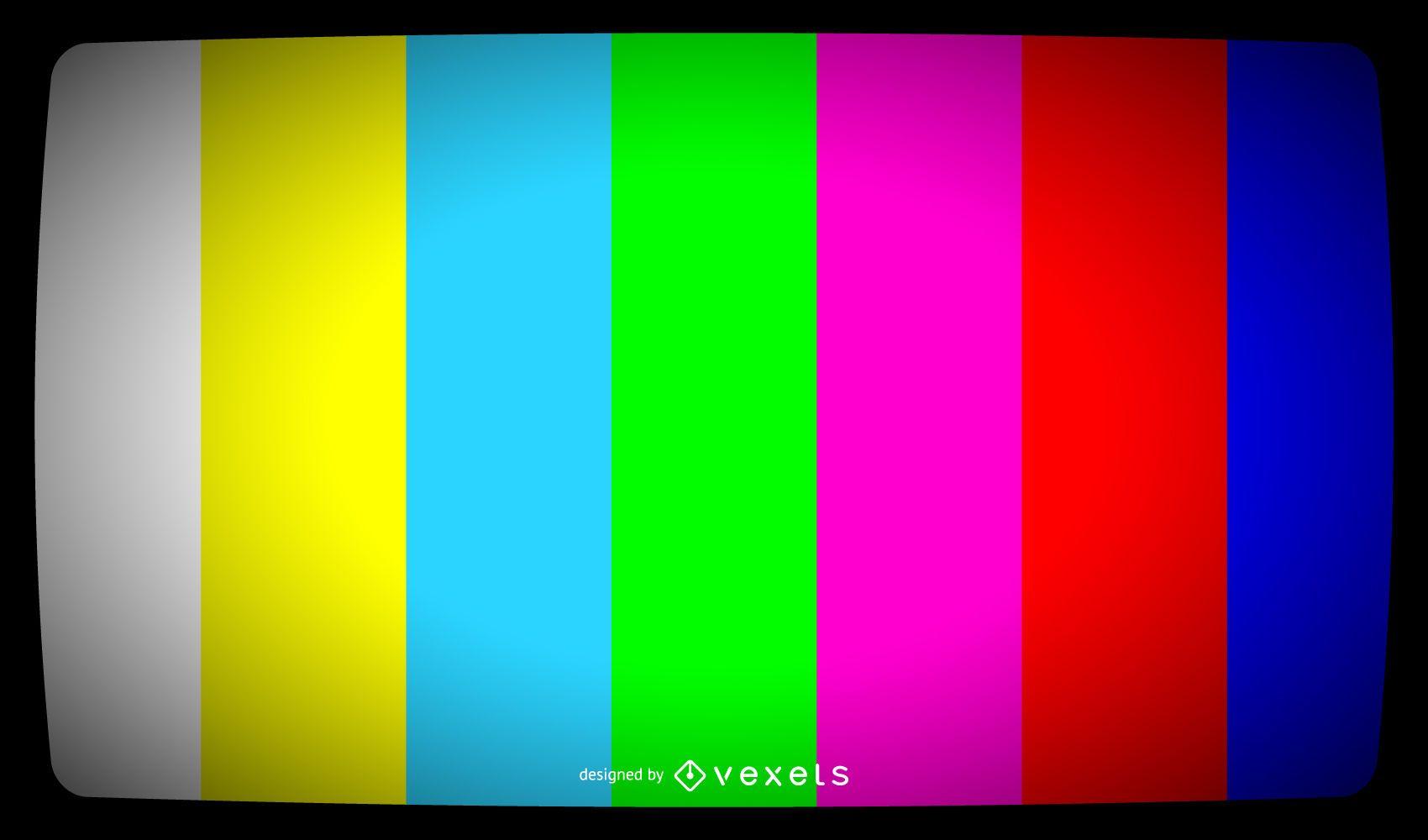 Señal de barras de color de TV