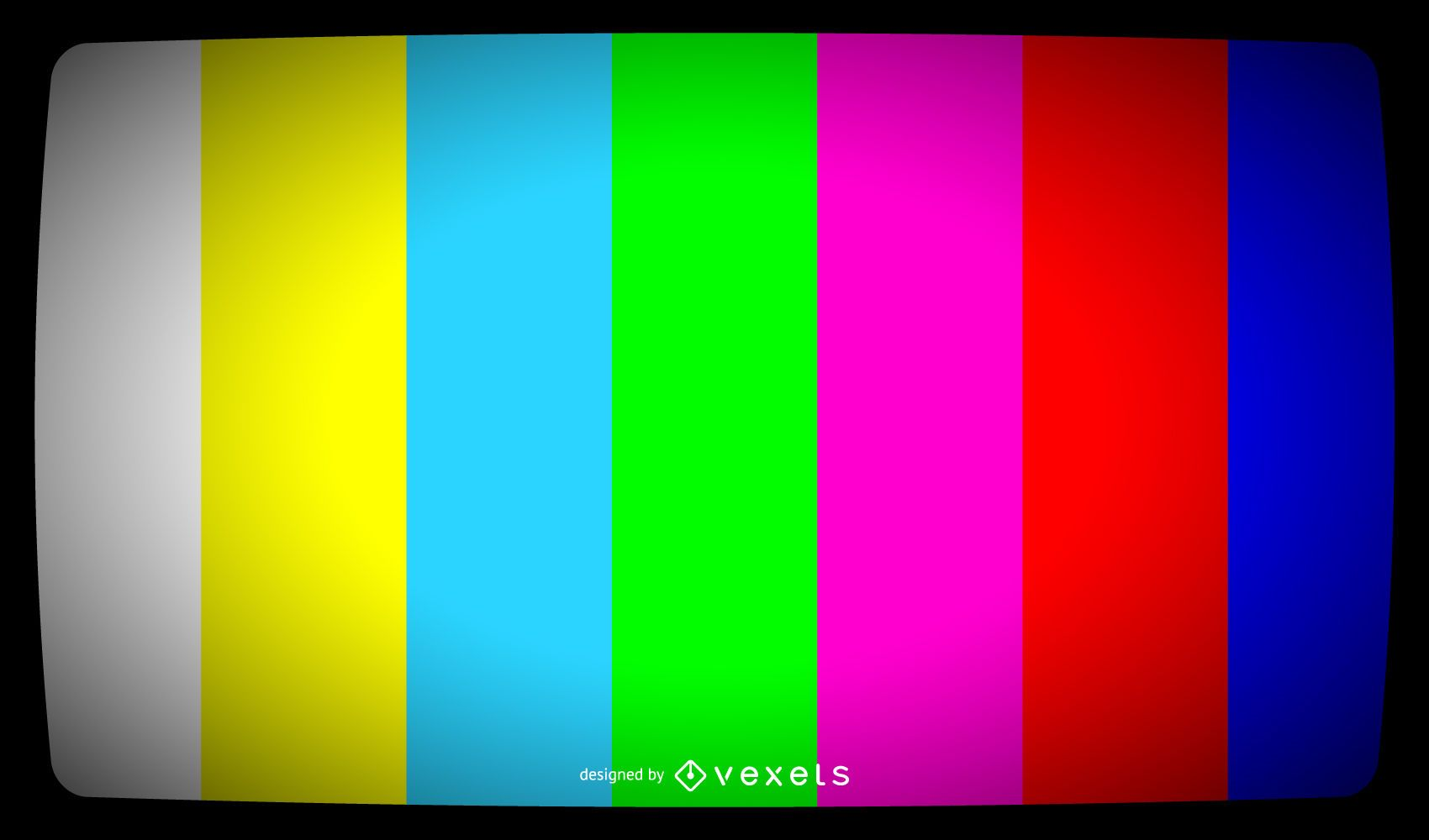 TV color bars signal