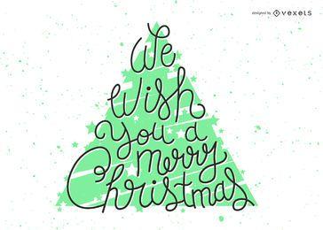 Helle Weihnachten wünscht Beschriftung