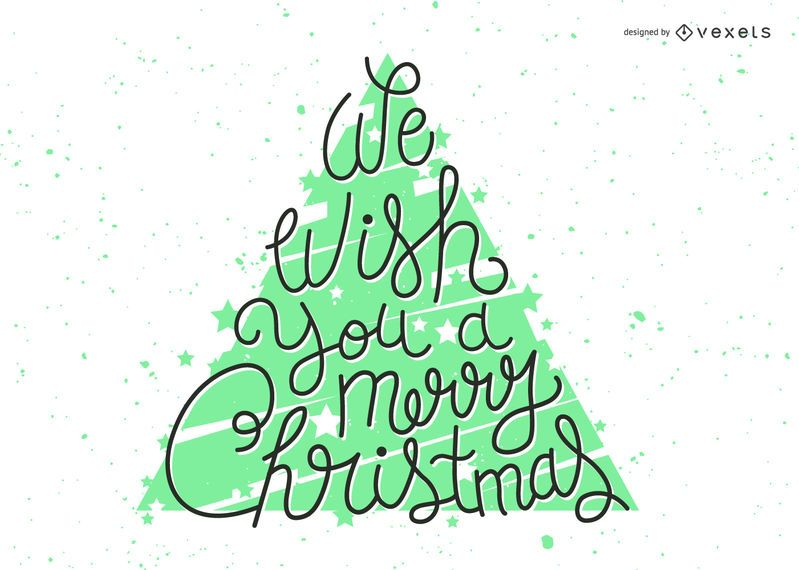 Bright Christmas wishes lettering