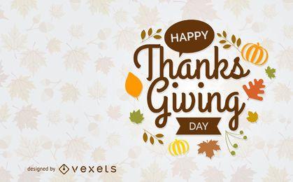 Feliz Dia de Ação de Graças cartão