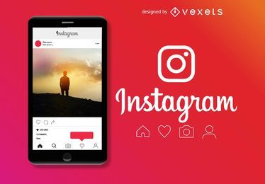 Instagram post template design
