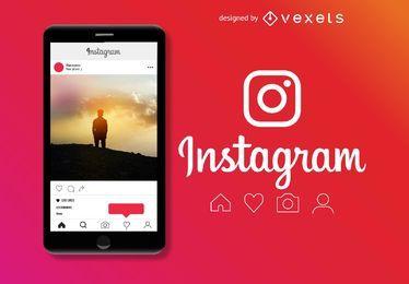 Maqueta de publicaciones de Instagram