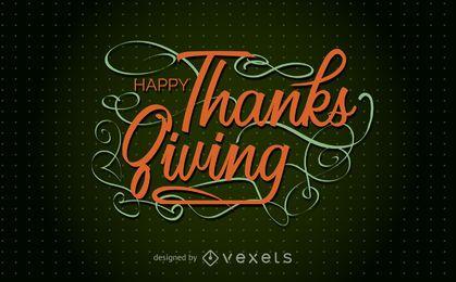 Tarjeta festiva de acción de gracias feliz