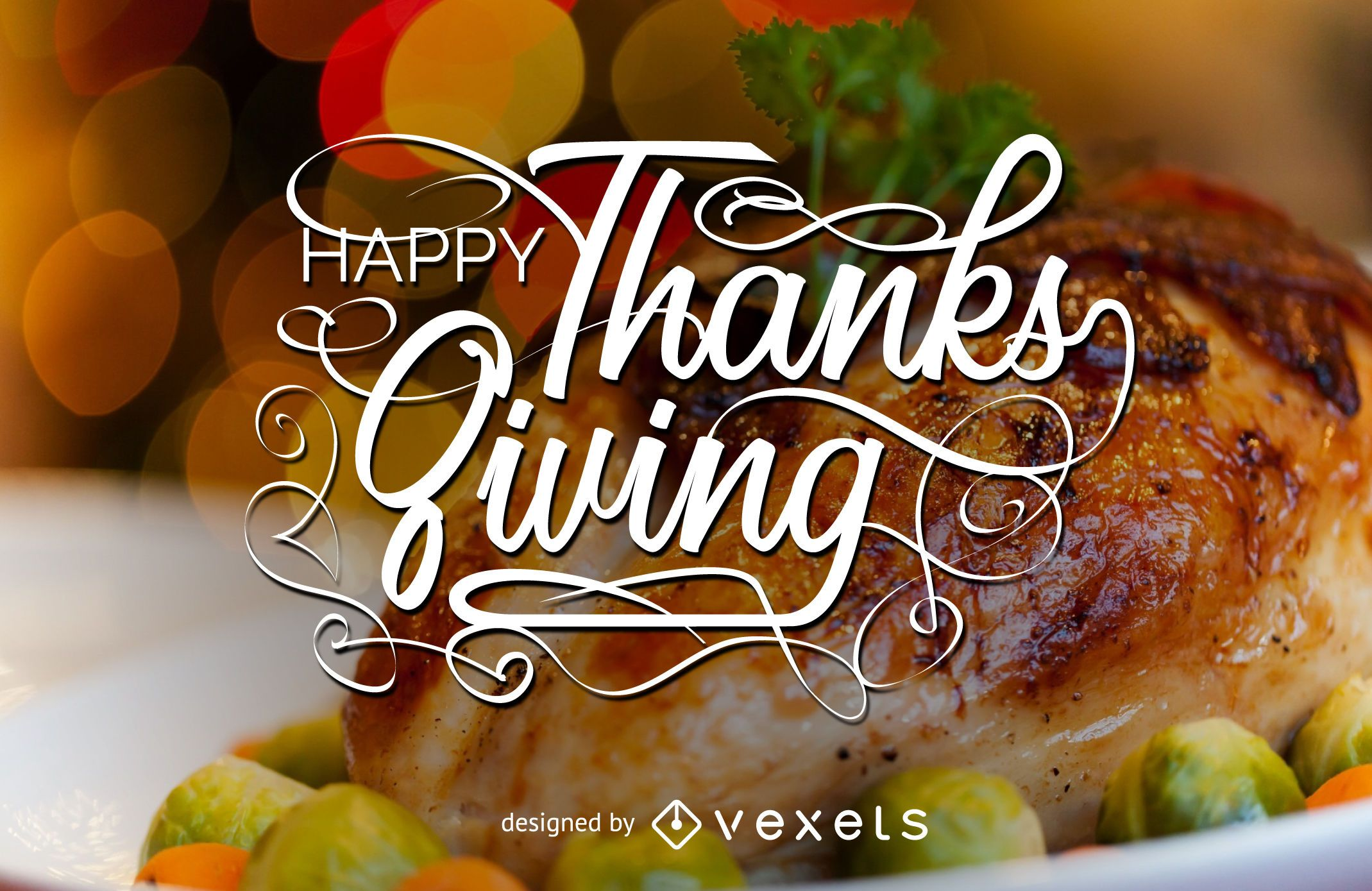 Thanksgiving lettering and
