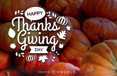 Feliz día de acción de gracias tarjeta