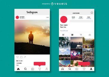 Plantilla de perfil de Instagram