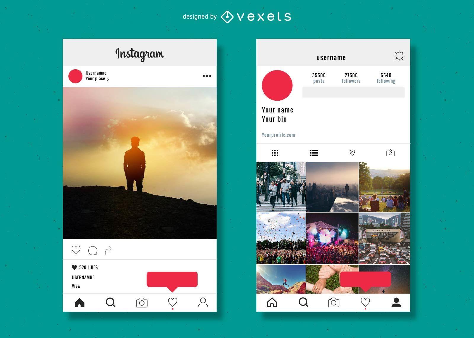 Plantilla de publicación de Instagram - Descargar vector