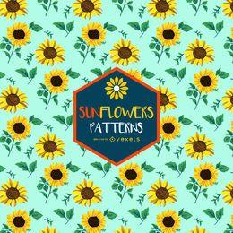 Buntes nahtloses Sonnenblumenmuster