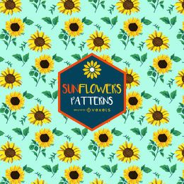 Colorful seamless sunflower pattern