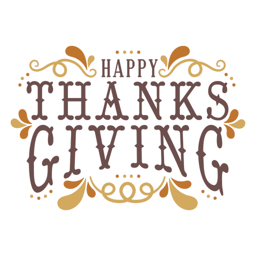Happy thanksgiving badge Transparent PNG