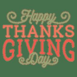 Feliz día de acción de gracias divisa