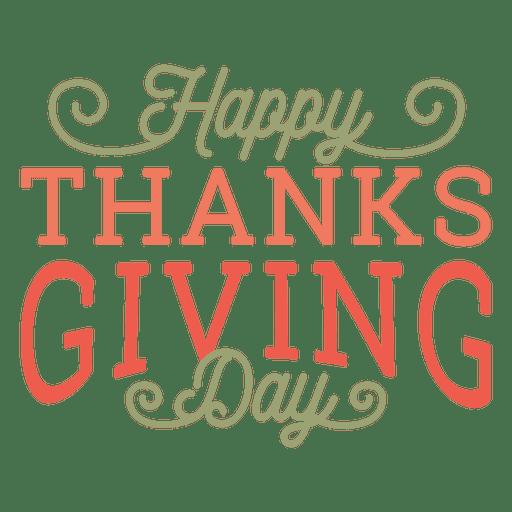 Feliz día de acción de gracias Transparent PNG