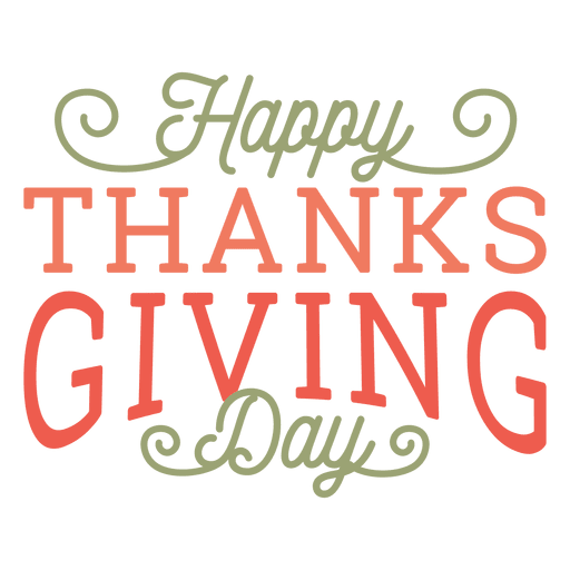 Happy thanksgiving day badge Transparent PNG