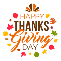 Happy thanksgiving day logo