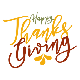 Happy thanksgiving greetings badge