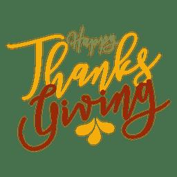 Insignia feliz saludos de acción de gracias