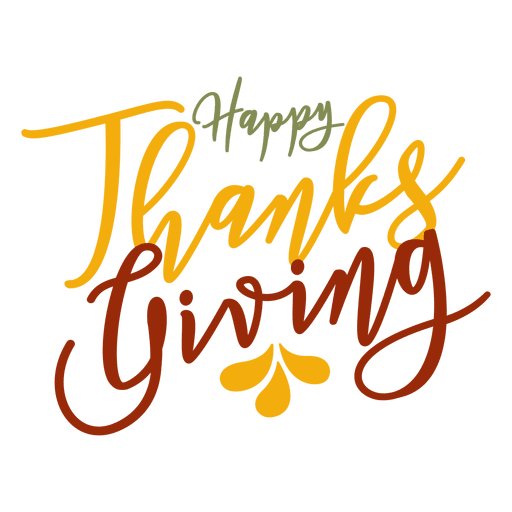 Happy thanksgiving greetings badge Transparent PNG