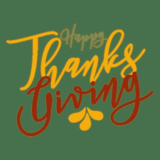 Insignia feliz saludos de acción de gracias Transparent PNG