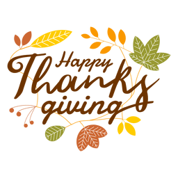 Feliz logotipo de acción de gracias