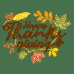 Logotipo de ação de graças feliz