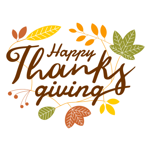 Happy thanksgiving logo Transparent PNG