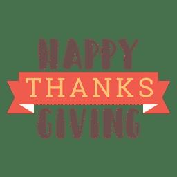 Insignia feliz de la cinta de acción de gracias