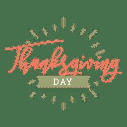 Insignia del día de acción de gracias