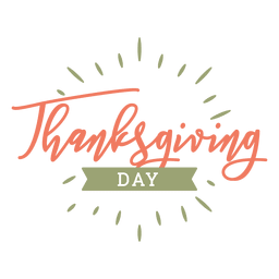 Thanksgiving day badge