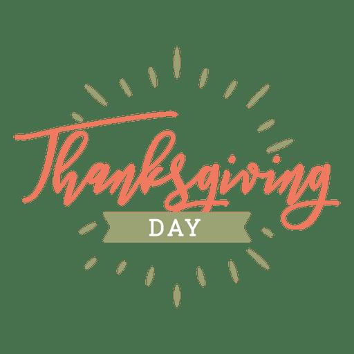 Insignia del día de acción de gracias Transparent PNG